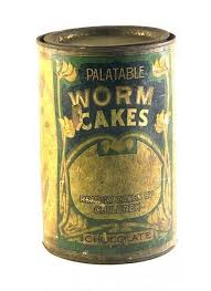 <b>Tin</b> of chocolate <b>worm</b> cakes London, ca. early 20th century. In the ...