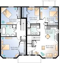 Three Unit Apartment House Plan   DR   CAD Available    Reverse Floor Plan Pinit white