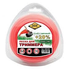 леска для триммера dde speed line 3 0mm x 15m red 644 955