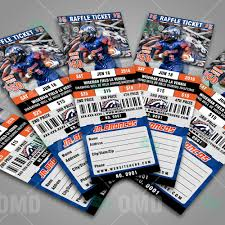 sports invites halftime football raffle ticket style template raffle ticket design 4 jr broncos proof product 3