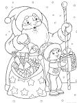 Игры для девочек раскраски деда мороза и снегурочки