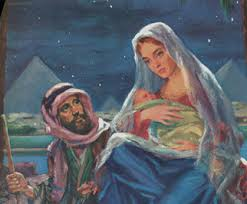 Image result for pictures of joseph and mary going to egypt