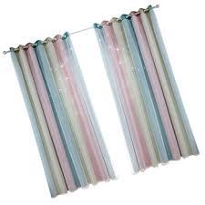 2Pcs Curtain Gradient <b>Fashion</b> Double-Layer <b>Sunshade</b> Curtains ...