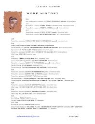 r e s u m e jay baker storyboard art resume