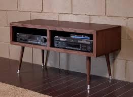 mid century modern retro tv stand  mayan double bay mocha  woodwaves