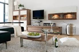 architecture awesome living room design idea with brown wall cabinet brown table with green guavas and architecture awesome kitchen design idea red