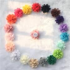 """<b>10pcs</b>/lot Christmas <b>Flowers</b> mini Chiffon <b>Flower 2</b>"""" Charlotte Tulle ..."""