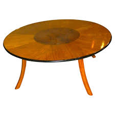 oval dining table art deco: great art deco custom design round coffee table with multi color woods