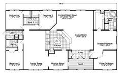 Double Wide Mobile Home Floor Plans Texas  http   modtopiastudio        Floor Plan   Jacobsen Other dream home plan  This is a double wide layout but who cares