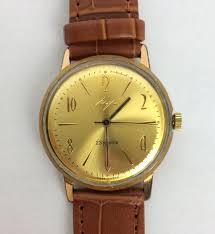 "Soviet watch "" Luch "" Russian <b>gold</b> plated watch <b>Vintage</b> Watch <b>Men</b> ..."