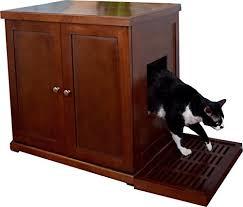 the refined feline rlb ma wood cat litter box arena kitty litter box