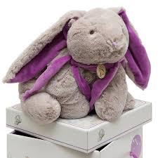 <b>Кролик</b> Lapkin <b>серый</b>/фиолетовый 45 см с доставкой в ...