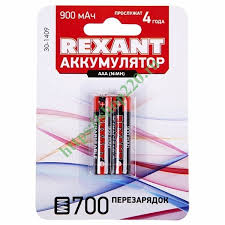 Купить <b>Аккумулятор AAA</b> Rexant 1,2В 900мАч (в упаковке 2шт) 30 ...