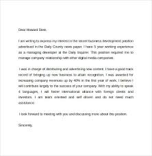 sample business cover letter template     download free documents    business development cover letter