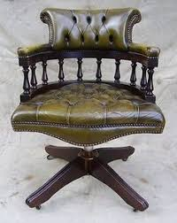 antique style green leather mahogany swivel office desk chair captains chair antique leather swivel desk chair