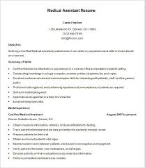 medical assistant resume template –   free samples  examples    certified medical assistant resume free download