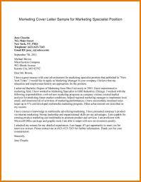 marketing internship cover letter assistant cover letter marketing internship cover letter marketing cover letter sample for marketing specialist position jpg caption