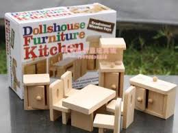 kitchen furniture miniature wooden dollhouse furniture sets toys for children free shipping cheap wooden dollhouse furniture