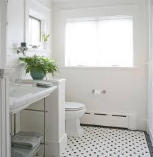 white bathroom floor: