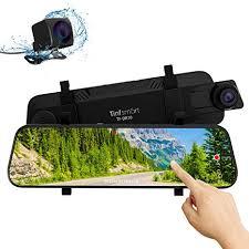 Mirror <b>Dash Cam</b> 10 Inch Full HD Touch Screen Dash: Amazon.co ...