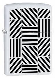 <b>Зажигалка ZIPPO 214 Abstract</b> с покрытием White Matte, латунь ...
