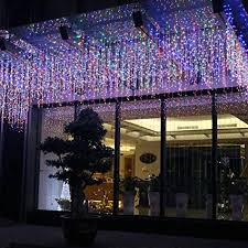 5m led icicle fairy string light christmas garland wedding party lights remote outdoor curtain garden patio decor