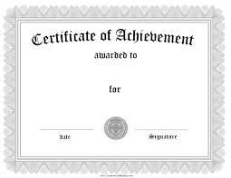 certificate of achievement jpg formal award certificate