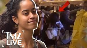 Malia Obama Out Of It At Lollapalooza | TMZ Live - YouTube
