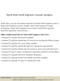 top 8 hotel chief engineer resume samples in this file you can ref resume materials sample hotel engineer resume