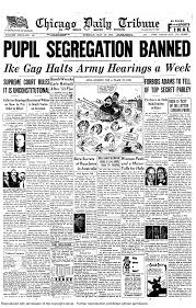 news headlines of the s the topeka state journal reported brown vs board of education decision 1954