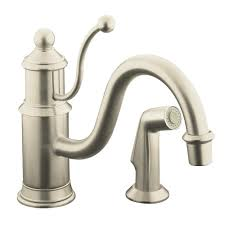 nickel kitchen sink faucet brass single related products clairette single handle pull down sprayer kitchen fau