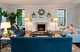 blue sofas living room: sofas and chairs  jenna wedemeyer sofas and chairs