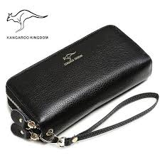 <b>KANGAROO KINGDOM</b> luxury <b>women wallets</b> genuine leather long ...