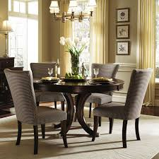 kitchen pedestal dining table set: alston round pedestal dining table amp chairs by kincaid