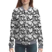 <b>Бомбер Skull</b> Design #2544796 в Москве – <b>бомберы</b> с принтами и ...