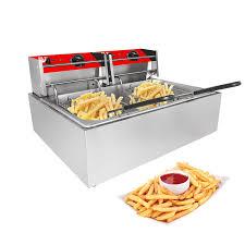 ALD-FR2 <b>Double Deep Fryer</b> | 2-Basket <b>Electric</b> Fryer for ...