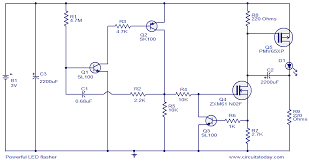 1w led driver circuit diagram the wiring diagram powerful led flasher electronic circuits and diagram electronics circuit diagram