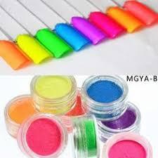 <b>8 Boxes Neon Pigment</b> Nail Powder Dust Ombre Nail Glitter Gradien ...