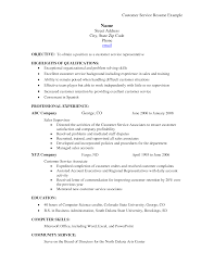 summary of qualifications on a resume for customer service cover letter customer service skills for resume exles