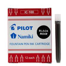 <b>Картриджи для перьевой ручки</b> PILOT IC-100 черные 12шт. - 185 ...