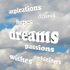several words around the word dreams representing our goals in several words around the word dreams representing our goals in life desires passions ambitions