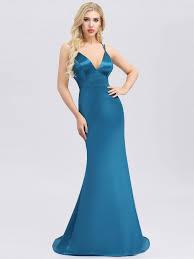<b>Sexy Backless</b> Deep <b>V</b>-<b>Neck</b> Mermaid Dress with Spaghetti Straps ...