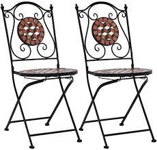 vidaXL Mosaic Bistro Chairs 2 pcs,Folding Bistro ... - Amazon.com