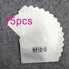 15pcs <b>Anti Rfid Wallet</b> Blocking Reader Lock <b>Bank</b> Card Holder Id ...