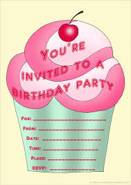 printable personalized birthday invitations for kids 1st cupcake birthday invitation for girls to print