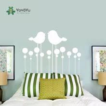 <b>Yoyoyu</b> decal kissing birds headboard bedroom <b>wall sticker</b> nursery ...