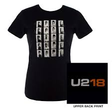 <b>Womens Black</b> 'U218' <b>T</b>-<b>shirt</b> - U2 UK Shop