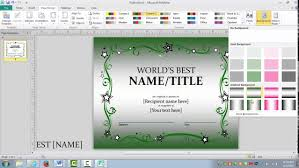 how to make an awards certificate in publisher how to make an awards certificate in publisher
