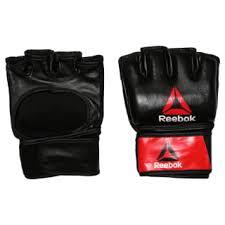 <b>Reebok Перчатки</b> Combat Leather <b>MMA</b> - размер L - черный ...