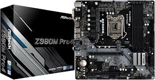 <b>Материнская плата Asrock Z390M</b> PRO4 Soc-1151v2 Intel Z390 ...
